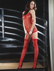 "SEKSOWNY BODYSTOCKING ""CATRIONA RED"" - BLC 0055"